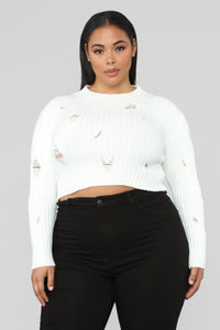 You Distress Me Out Sweater - Ivory Angle 6
