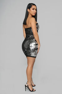 Get This Party Started Sequin Dress - Silver
