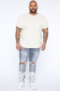 Essential Pigment Wash Short Sleeve Tee - White Angle 7