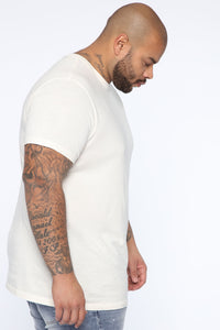 Essential Pigment Wash Short Sleeve Tee - White Angle 9