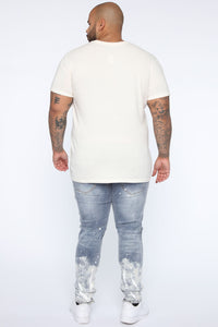 Essential Pigment Wash Short Sleeve Tee - White Angle 10