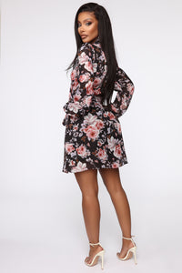 Leader Of The Pack Mini Dress - Black/Combo