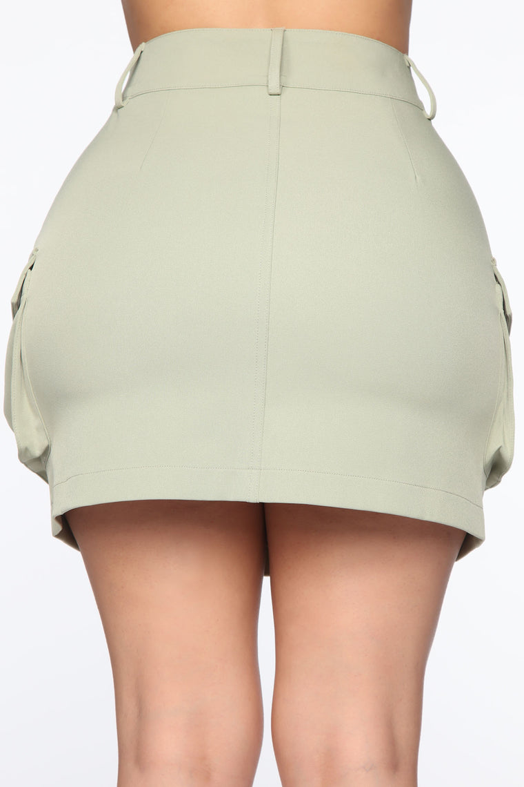 Cargo Small Talk Skirt - Sage