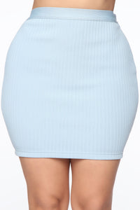 Classy And Sassy Skirt Set - Blue Angle 6