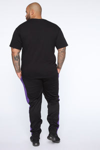 Retro Track Pant - Black/Purple