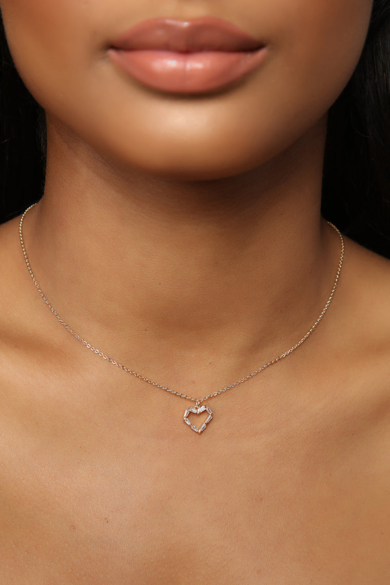 Open Your Heart Necklace   Gold by Fashion Nova