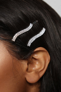Get Out Of Hair Bobby Pin Set - Silver Angle 3