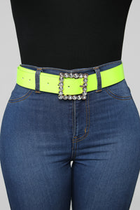 Made It Work Belt - Neon Green Angle 1