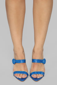 Risk Taker Heeled Sandals - Blue Angle 2