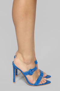 Risk Taker Heeled Sandals - Blue Angle 1