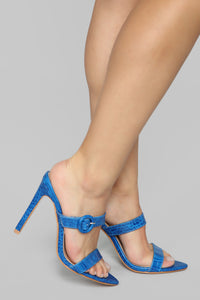 Risk Taker Heeled Sandals - Blue Angle 3