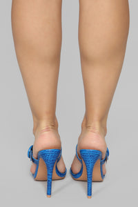 Risk Taker Heeled Sandals - Blue Angle 6