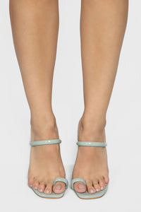 Look Away Heeled Sandals - Mint Angle 3