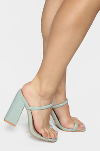 Look Away Heeled Sandals - Mint Angle 1