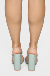 Look Away Heeled Sandals - Mint Angle 7
