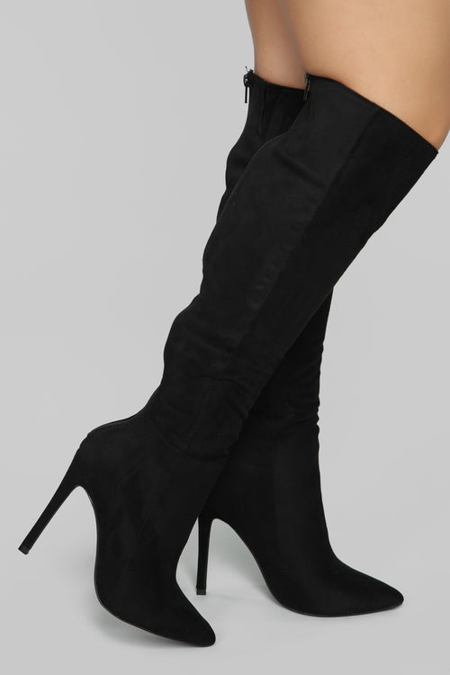 Typical Me Heeled Boot - Black