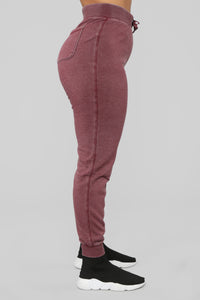 The Perfect Lounge Joggers - Wine