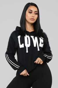 Just Love Me Hoodie - Black