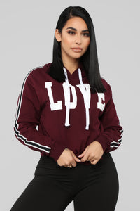 Just Love Me Hoodie - Burgundy