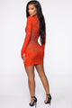 Mind Control Mini Dress - Orange/combo