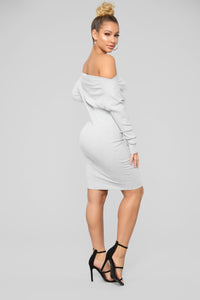 Sara Midi Dress - Grey