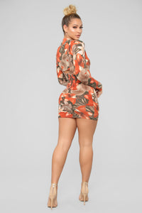 It's About Time Tropical Mini Dress - Olive/Combo