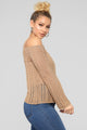 Rina Cold Shoulder Sweater - Mocha