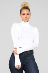 Pamela Turtle Neck Long Sleeve Top   Off White by Fashion Nova