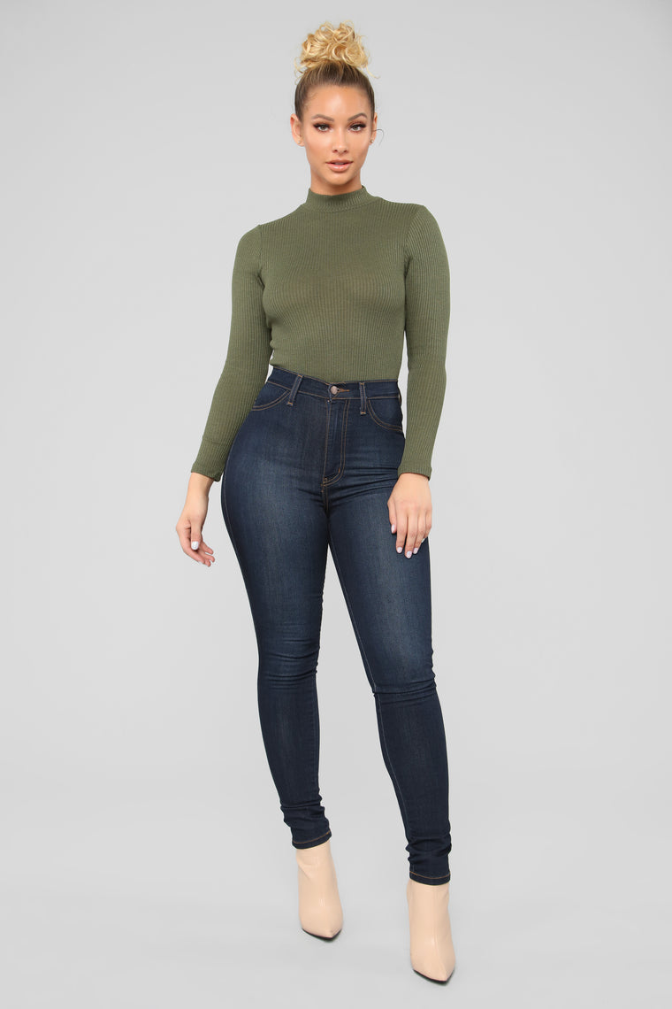 Say No More Bodysuit - Olive
