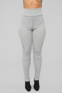 Alexis Stitched Leggings - Grey