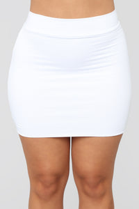 Melanie Mini Skirt - White Angle 3