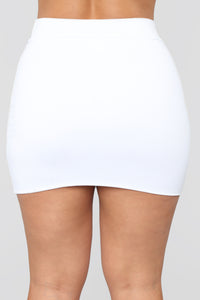 Melanie Mini Skirt - White Angle 5
