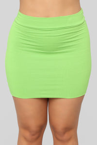 Melanie Mini Skirt - Lime
