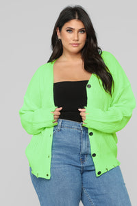 Need Attention Sweater - Neon Green Angle 6