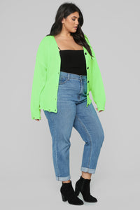 Need Attention Sweater - Neon Green Angle 7