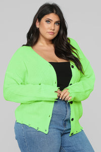 Need Attention Sweater - Neon Green Angle 8
