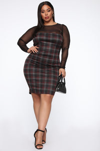 My Forever Love Plaid 2 Piece Dress - Black/combo Angle 7
