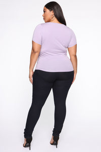 Monica Scoop Neck Top - Lavender Angle 5