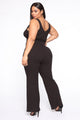 Get Close To Me Ribbed Jumpsuit - Black