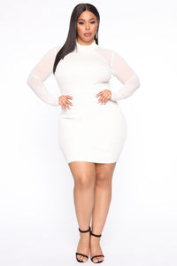 Magical Gal Midi Dress - Ivory
