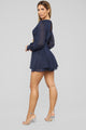 Sparkle In The Night Metallic Romper - Navy