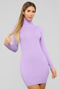 My Favorite Sweater Dress - Lavender