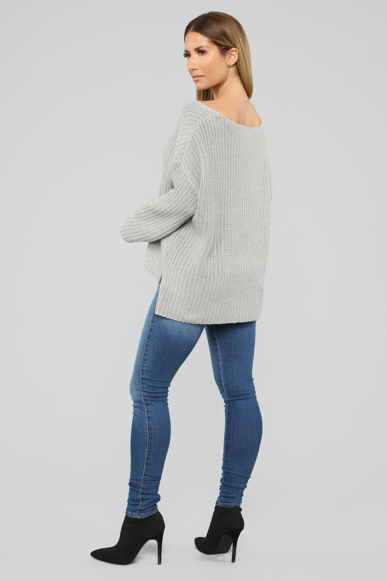 Kiss And Tell Sweater - Grey