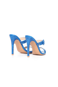 Risk Taker Heeled Sandals - Blue Angle 5