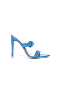 Risk Taker Heeled Sandals - Blue Angle 4