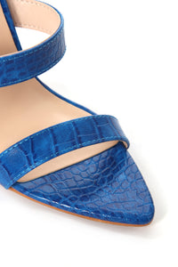 Risk Taker Heeled Sandals - Blue Angle 7