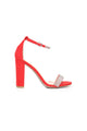 Stone Cold Heeled Sandal - Red/Multi