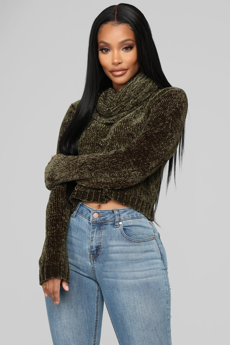 In The Neck Of Time Sweater - Olive