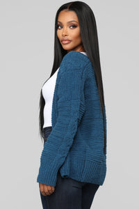 Better In Your Arms Cardigan - Teal