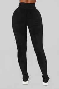 Plush Play Leggings - Black Angle 6